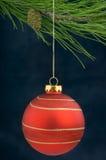 Décoration de Noël sur un arbre photos stock