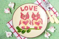 Décoration de nourriture pour le jour de valentines Photos libres de droits