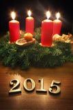 Décoration 2015 de nouvelle année Photographie stock libre de droits