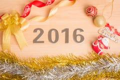 Décoration de nouvelle année, plan rapproché le 2016 Photo libre de droits