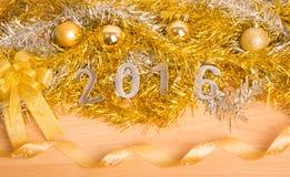 Décoration de nouvelle année, plan rapproché le 2016 Photos libres de droits