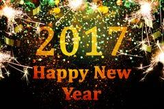Décoration de nouvelle année, plan rapproché sur les milieux d'or Photo libre de droits