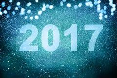 Décoration de nouvelle année, plan rapproché sur les milieux d'or Image stock