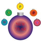 Décoration de nouvelle année pour l'arbre de Noël illustration de vecteur