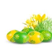Décoration de Pâques avec des oeufs de pâques. photos stock