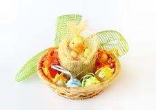 Décoration de Pâques sur le blanc Photographie stock libre de droits