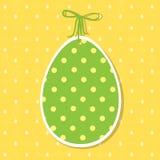 Décoration de papier de Pâques sous forme d'oeuf Oeuf de pâques vert Image stock