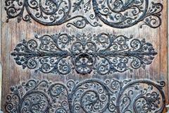 Décoration de porte d'entrée de Notre Dame Photo libre de droits