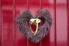 Décoration de porte de coeur Photo stock