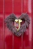 Décoration de porte de coeur Photographie stock libre de droits