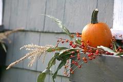 Décoration de potiron d'automne Photo libre de droits
