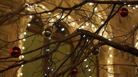 Décoration de réverbères de Noël clips vidéos