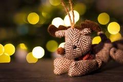 Décoration de renne de Noël Image libre de droits