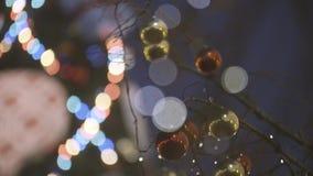 Décoration de rue de Noël banque de vidéos