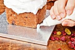 Décoration de sac de pâtisserie Images libres de droits