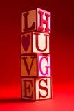 Décoration de Saint-Valentin avec le mot AMOUR Photographie stock