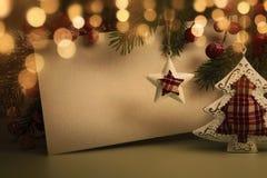 Décoration de soirée de Noël Photos stock