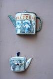 Décoration de système de thé Images stock