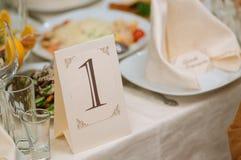 Décoration de table de mariage Image libre de droits