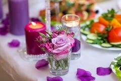 Décoration de table de mariage Photographie stock