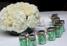 Décoration de table de mariage Images libres de droits