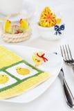 Décoration de table de Pâques photo libre de droits