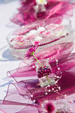 Décoration de Tableau pour une réception de jardin d'été Photo stock