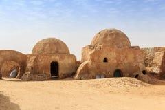 Décoration de Tatooine dans le désert du Sahara photos libres de droits