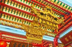 Décoration de temple de Guanyin Gumiao de Chinois, Yangon, Myanmar Photo stock