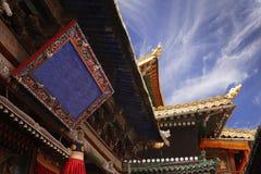 Décoration de toit dans un bouddhiste Photo stock