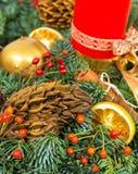 Décoration de vacances de Noël et de nouvelle année image libre de droits