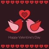 Décoration de Valentine Images stock