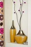 Décoration de vases Photographie stock
