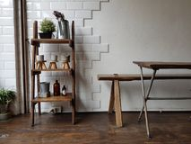 Décoration de vintage en café de café Image libre de droits
