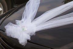 Décoration de voiture de mariage Images libres de droits