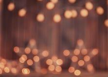 Décoration defocused de lumières de Noël photo stock