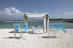 Décoration des Caraïbes de mariage Photographie stock libre de droits