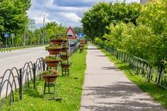 Décoration des couleurs des rues de ville photo libre de droits
