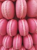 décoration des macarons roses Photo stock