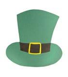 Décoration du chapeau de St Patrick de papier Images libres de droits