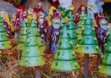 Décoration du marché de Noël En céramique coloré Image libre de droits