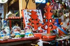 Décoration en bois d'arbre de Noël de jouet photos stock