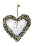 Décoration en bois de coeur Image libre de droits