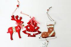 Décoration en bois de Noël image libre de droits