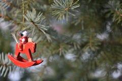 Décoration en bois de Noël images libres de droits