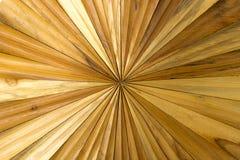 Décoration en bois sur l'intérieur de mur Photo stock