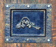 Décoration en bronze pour des portes Photos libres de droits