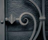 Décoration en filigrane en métal de barrière de fer images libres de droits
