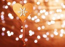 Décoration en forme de coeur de Noël Photographie stock