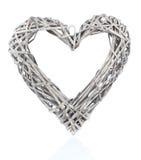 Décoration en forme de coeur faite de bois Photo stock
